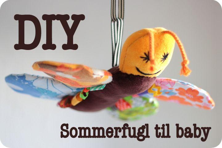 LaRaLiL: DIY - sommerfugl til baby