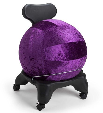 Balance Ball Chair and Cover Kit: Fashionable and ergonomic, this chair fights back pain and tones your stomach while you work