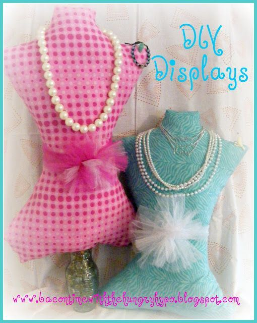 Make your own mannequin for displaying things…good for a craft show or just a …