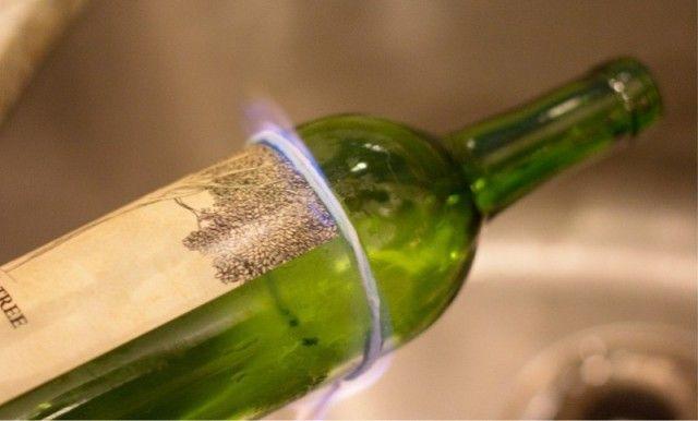 Как отрезать любую часть стеклянной бутылки при помощи нитки 0