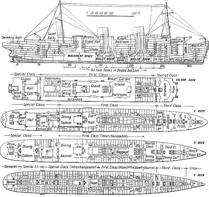 The Rex Deck Plans Passenger Ship Blueprints