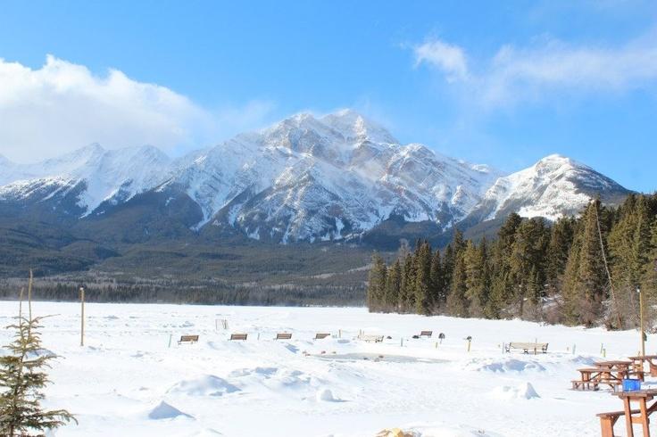 Pyramid Lake, Jasper, AB, Canada.