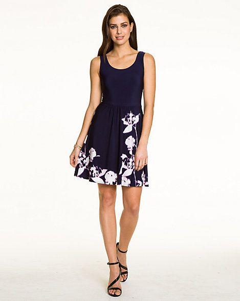 Floral KnitFit & Flare Dress