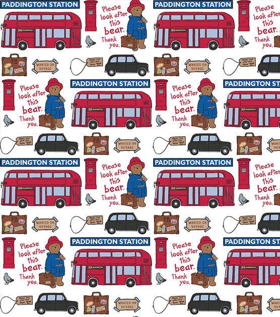 Paddington Bear Station Cotton Fabric - one of my favorite story book bears