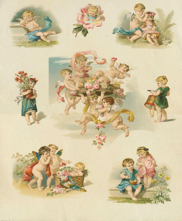 Картинки для декупажа ангелы ретро, днем рождения