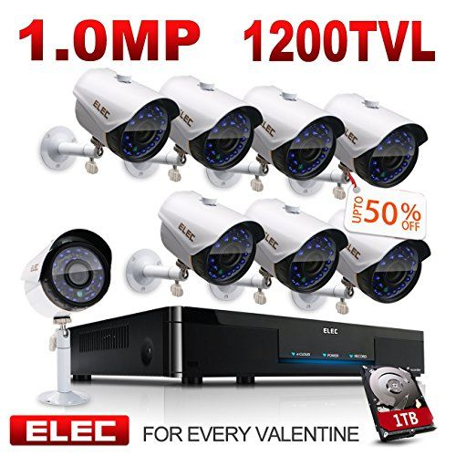 ELEC 8CH 960H DVR 8-Channel 1200TVL Home CCTV Surveillance Security Camera System with 1TB HDD Free App Remote Viewing Remote Access on Mobile Night Vision (8 Cameras) For Sale http://ift.tt/2xTQc3w