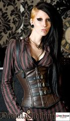 Steampunk Leather Buckle Corset - Dracula Clothing