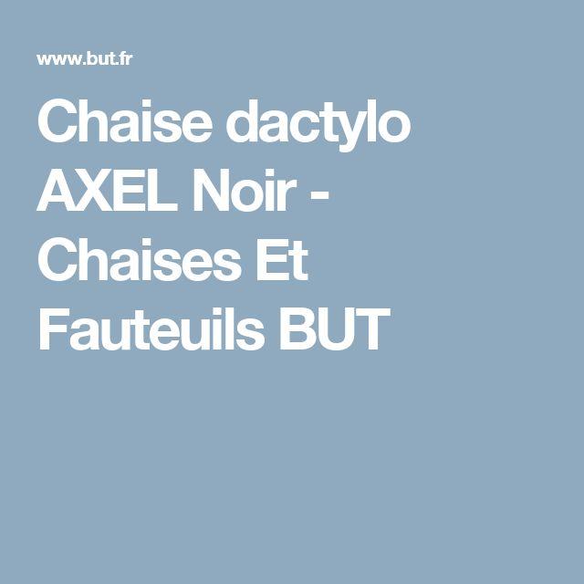 Chaise dactylo AXEL Noir - Chaises Et Fauteuils BUT