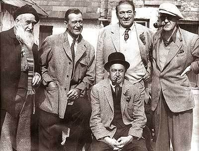 "The gents of ""The Quiet Man"" include Francis Ford, John Wayne, Victor McLaglen, director John Ford and Barry Fitzgerald."