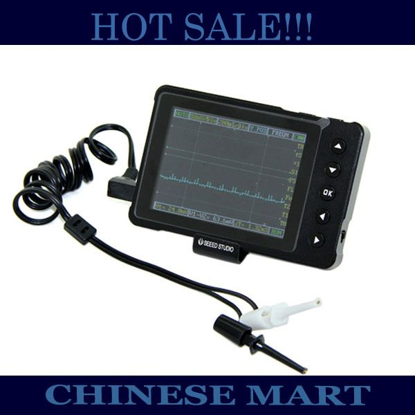 3pcs / lot DSO nano V3 DIY kit oscilloscope with aluminium alloy black case wholesale and retail Free shipping #J314a-2