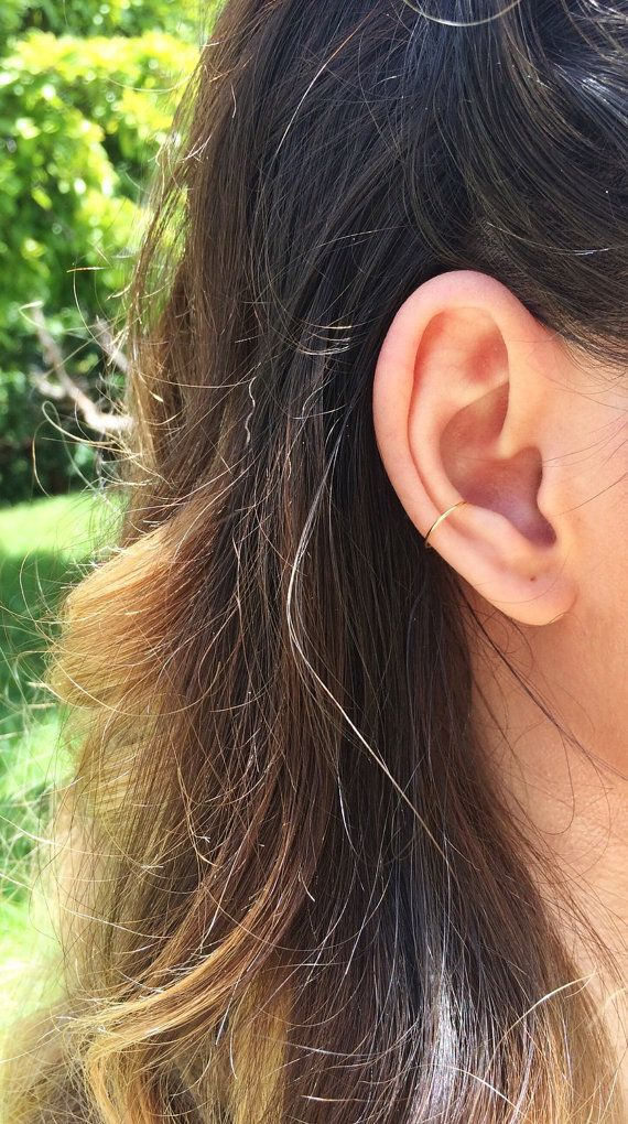 Gold ear cuff rose gold ear cuff fake conch piercing by arthemisa