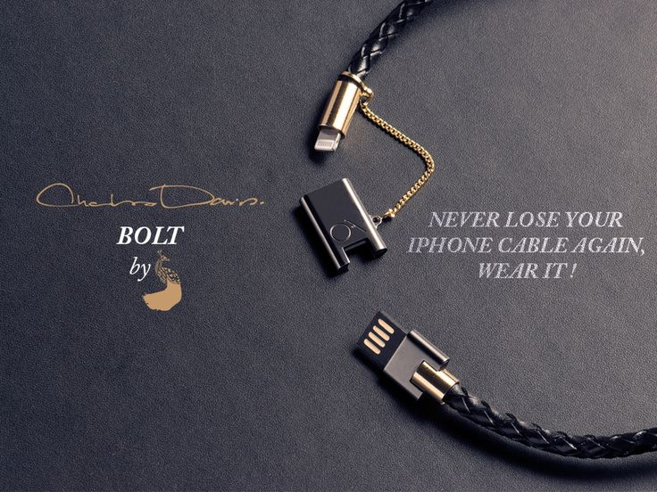 BOLT is a wearable bracelet made for iPhone, iPad & iPod, crafted of genuine leather designed to SYNC & CHARGE your devices in style!