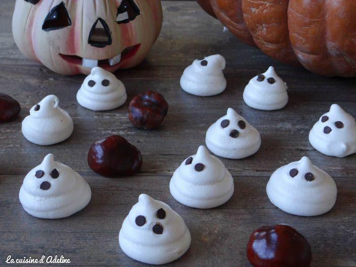 Meringues fantômes - Recette d'Halloween
