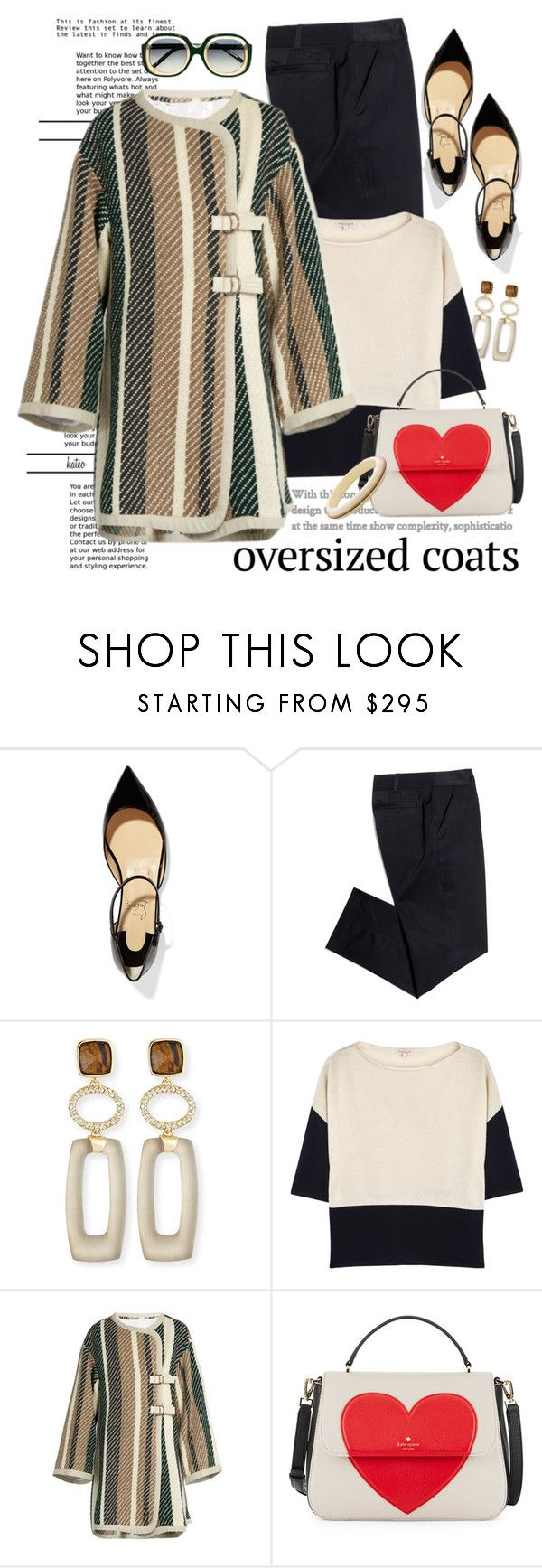"""""""Sometimes Bigger """"is"""" Better !!"""" by kateo ❤ liked on Polyvore featuring Christian Louboutin, Tory Burch, Alexis Bittar, Demylee, See by Chloé, Kate Spade, Marni, oversizedcoats and 6411"""