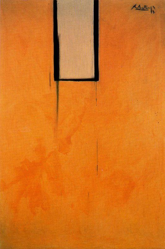 Robert Burns Motherwell (1915 -1991) was een Amerikaans, 20e eeuwse kunstschilder en een van de bekendste vertegenwoordigers van het abstract expressionisme. In 1948 werkte Motherwell samen met Baziotes, Barnett Newman en Mark Rothko op een, door Baziotes gestichte school. In deze tijd ontwikkelde Motherwell zich tot de belangrijkste 'woordvoerder' van de New Yorkse avant-garde.