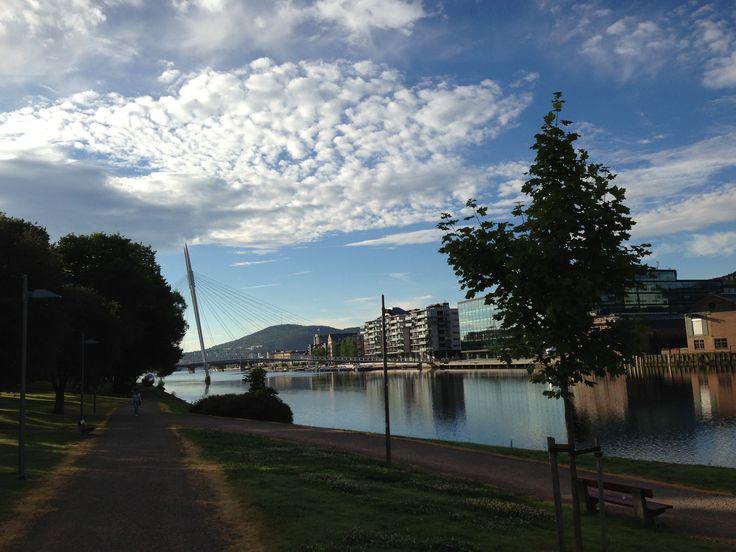 Morning at Drammen river