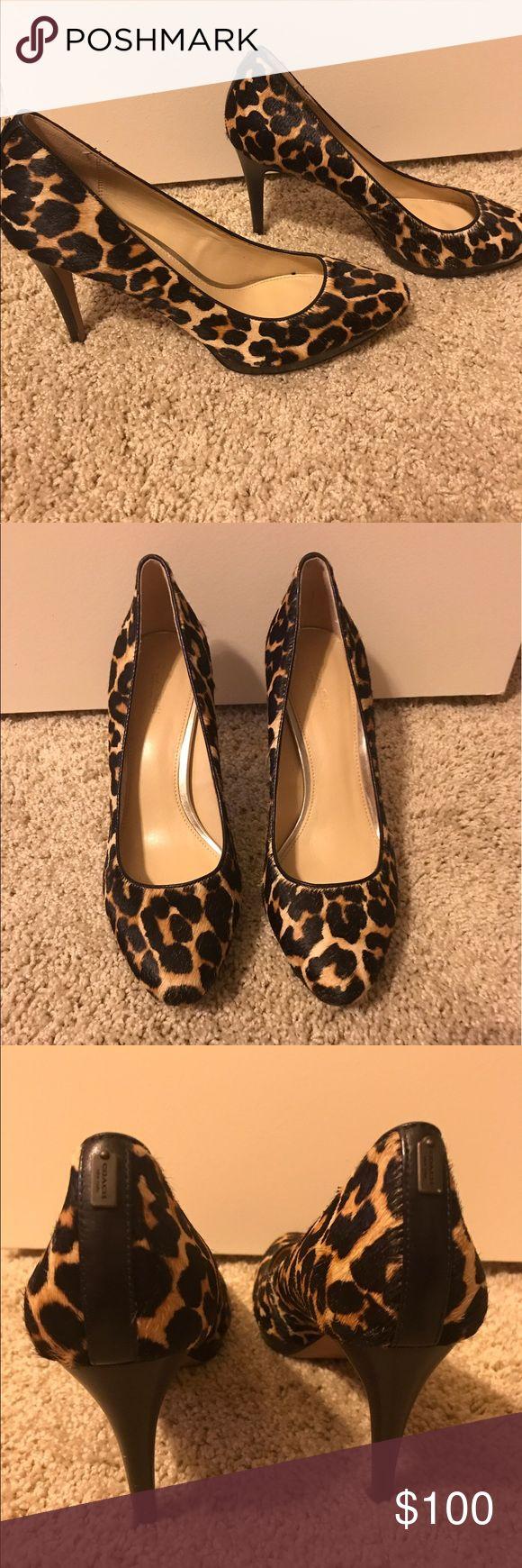 COACH 3 inch cheetah heels COACH cheetah heels. So fun! Coach Shoes Heels