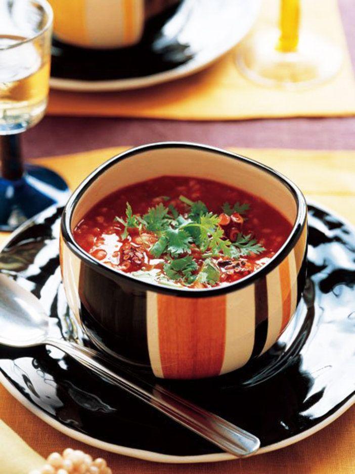 汁気が多いのがポルトガルのリゾットの特徴。香菜をトッピングして。|『ELLE a table』はおしゃれで簡単なレシピが満載!