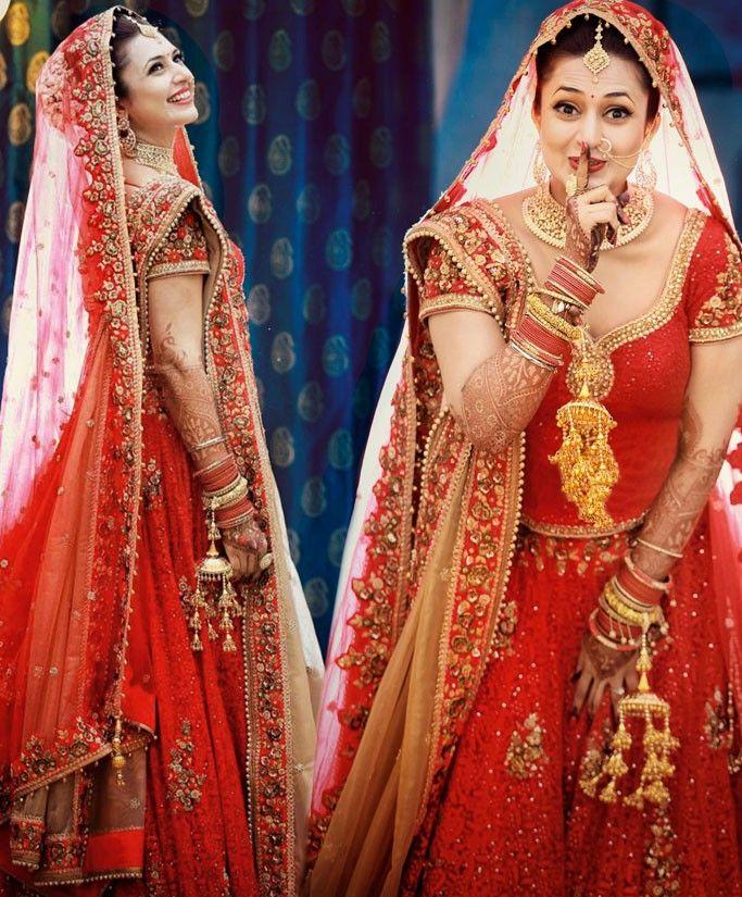 Divyanka Tripathi Designer #Bridal #Lehenga Choli #celebrity