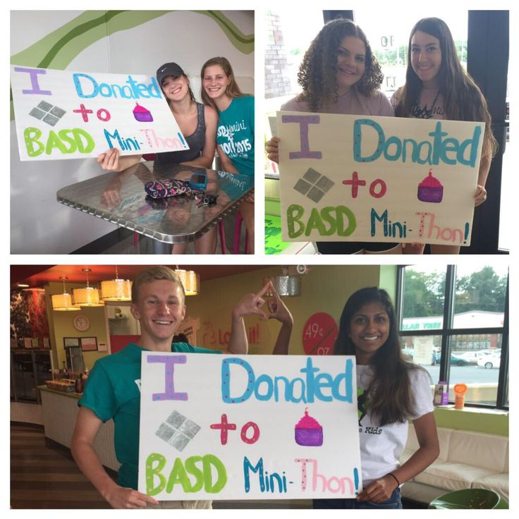 "SHOUT OUT: Bethlehem Area School District Mini-THON for your awesome ""I Donated"" signs! What a great way to recognize donors at your fundraising events! Keep up the great work For The Kids! #FTK"