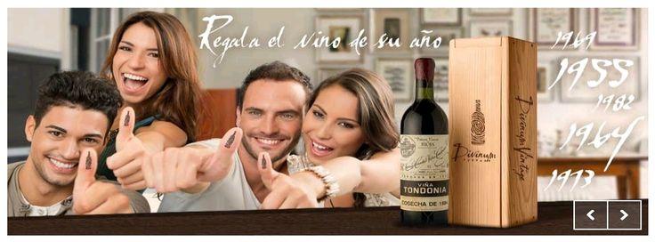 Regalos originales y exclusivos, cumpleanos. Botella de vino del ano de nacimiento. http://www.divinu.com