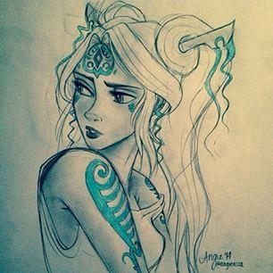 legend of korra avatar Raava humanised <<< it looks like Kida from Disney's Atlantis the Lost Empire