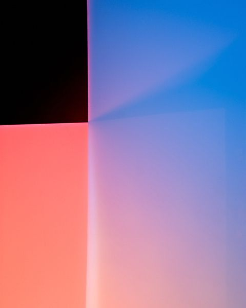 Although Toronto-based photographer Robert Canali is color-blind, he creates stunning photographs that study color. These images, like most of his work, are the results of curious pursuits. The manipulation of light and color is his subject, and the resulting images are a reflection of new discoveries.