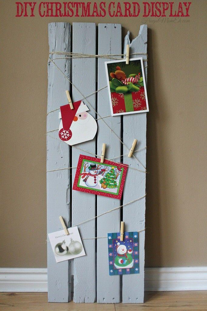 DIY Christmas Card Display by Frugal Mom Eh!  #BehrHolidayHues