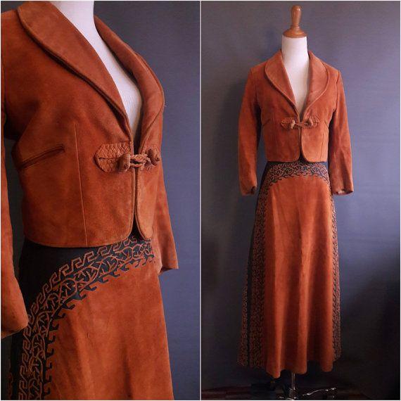 RARE vintage mariachi suit suede cachiruleado suit by edgertor