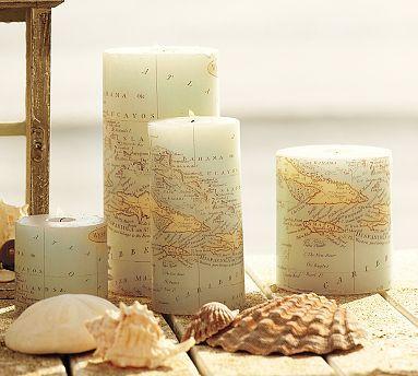 DIY map candles