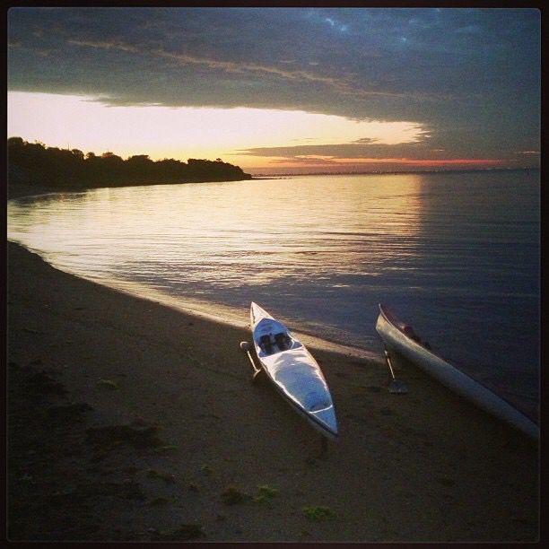 Sunrise paddle at Beaumaris beach, Australia
