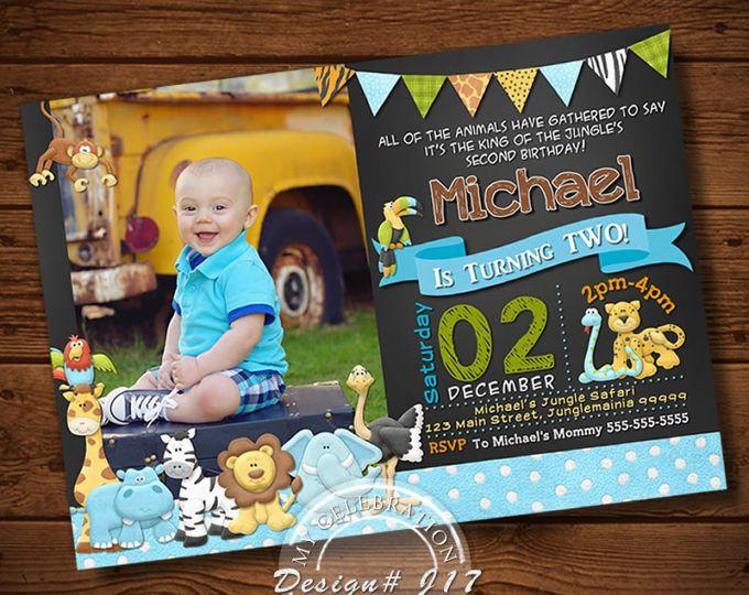 Jungle Invitation, Jungle Birthday Invitation, Safari Birthday Invitation, Animal Birthday Invitation,