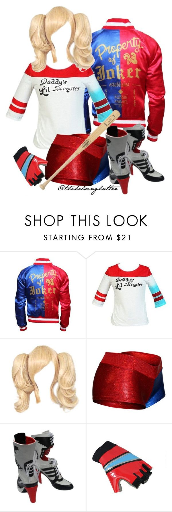 """""""Harley Quinn Su!c!deSquad Cosplay"""" by thehelsinghatter ❤ liked on Polyvore featuring Louisville Slugger                                                                                                                                                                                 More"""