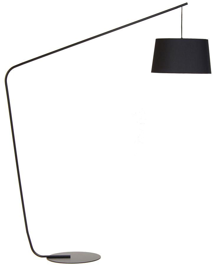 Lampadaire Lobby / H 182 cm Noir - Frandsen