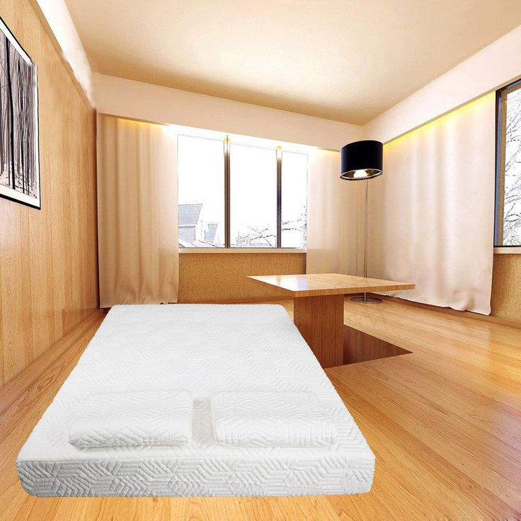10 inch Twin Size COOL Medium-Firm Memory Foam Mattress 2 FREE Pillows  Cover