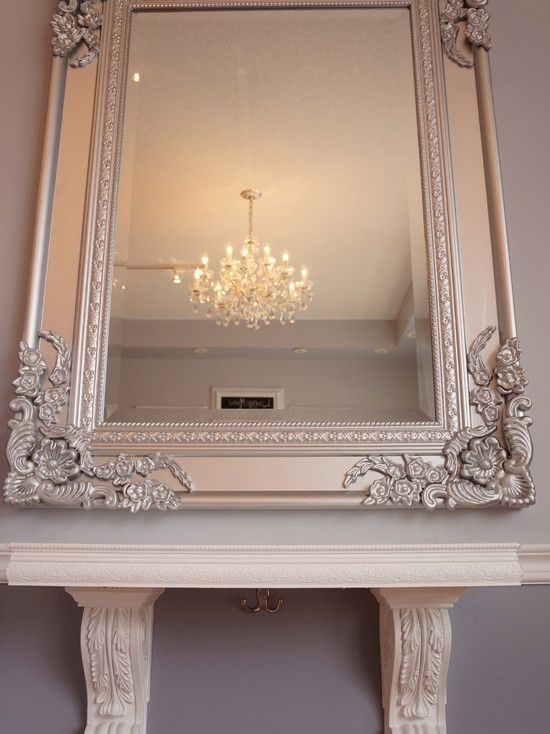 Salon Design In Vintage Style Beautiful Carved Mirror