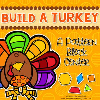 Practice number sense and geometry skills!Are you looking for a fun low prep Thanksgiving math center? This Build A Turkey Pattern Block Center is great for practicing symmetry, shape id and counting and is really easy to make! Print the turkeys and have students use pattern blocks to create the feathers.This pack includes:       Activity Directions      Turkey Body Cut Outs      Student Response Sheet*************************************************************************** Find More…