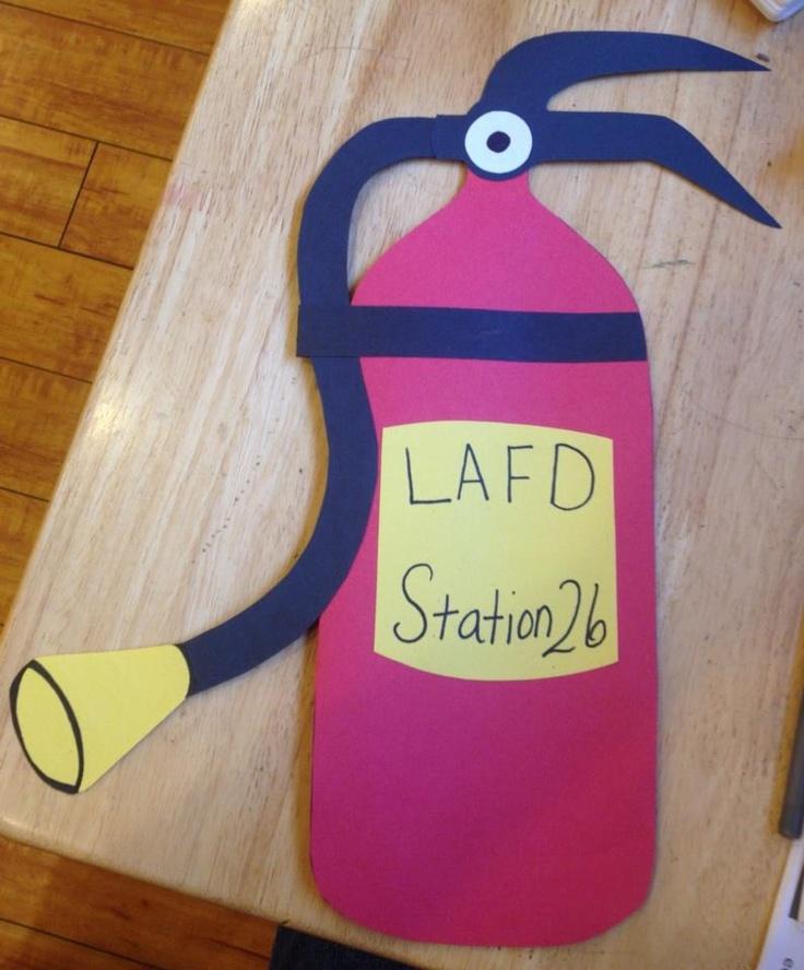 Thank You Firefighter S Kindergarten And Preschool Arts