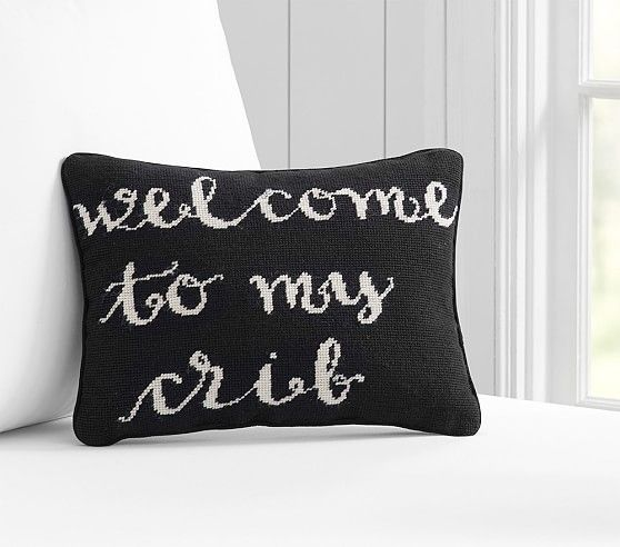 Welcome To My Crib Decorative Pillow | Pottery Barn Kids