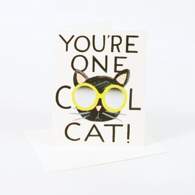 Rifle Paper Co Single Card - You're One Cool Cat Card   Pony Lane