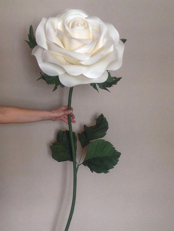 Giant Paper Flower Foam Flowers With Stems Lagre Paper Flowers