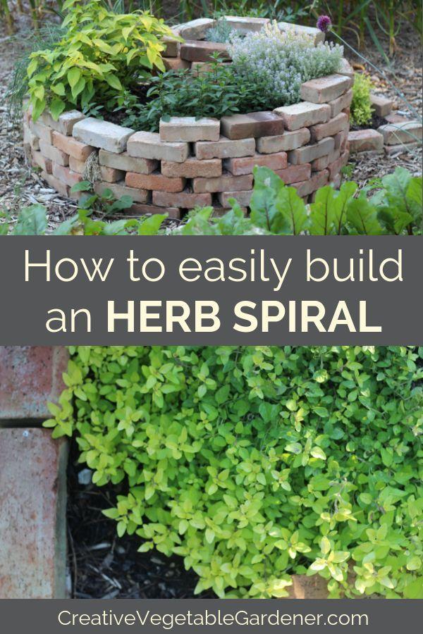How To Easily Build An Herb Spiral Diy Garden Ideas Pinterest