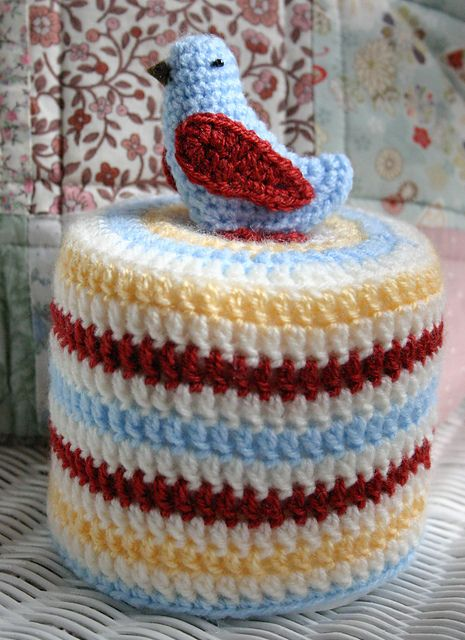 Ravelry: Bird Toilet Roll Cover pattern by Amy Jane