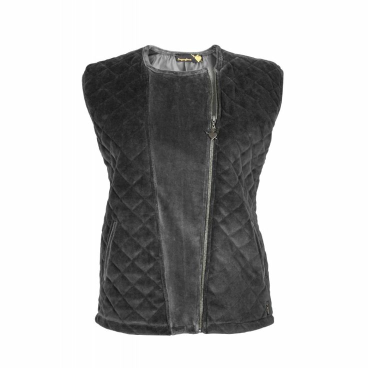 QUILTED VELOUR VEST