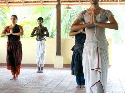 Namaskar, Salutation Bharata Natyam practice, Classical Indian Dance, Chennai, Tamil Nadu India