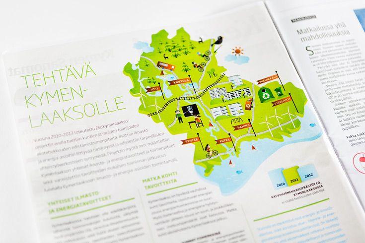 Advertising for EkoKymenlaakso. Designed in Redland.