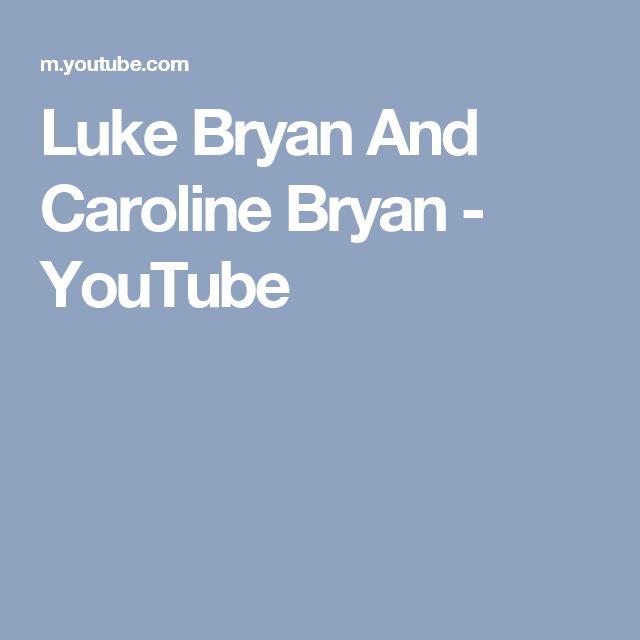 Luke Bryan And Caroline Bryan - YouTube
