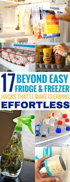 These 17 Fridge & Freezer Hacks Are AMAZING! They're great for anyone who is looking to save money and get organized!
