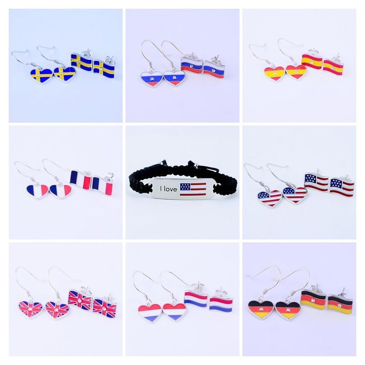 We celebrate our love of national flags and we love to wear them as high quality jewellery. Tell us which one is your favourite?  #flag #uk #london #moscow #russia #france #netherlands #deutschland #sweden #usa #loveuk #loverussia #berlin #ichliebedeutschland #dutchgirl #summer #mycountry #spain #love #european #nationalflag #ilovemejewellery #paris #madrid #amsterdam #newyork #stockholm