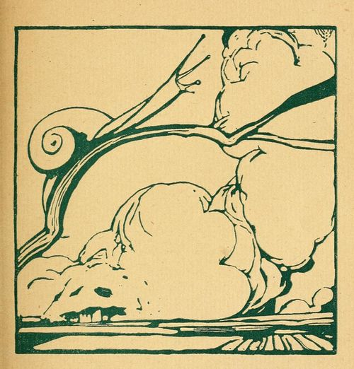 Duilio Cambellotti, illustration for La siepe di smeraldo, 1920 (via Animalarium: Powerful Lines)